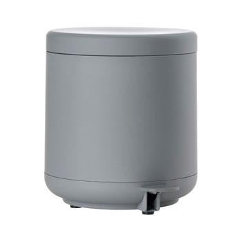 Coș de gunoi cu pedală pentru baie Zone UME, 4 l, gri de la Zone
