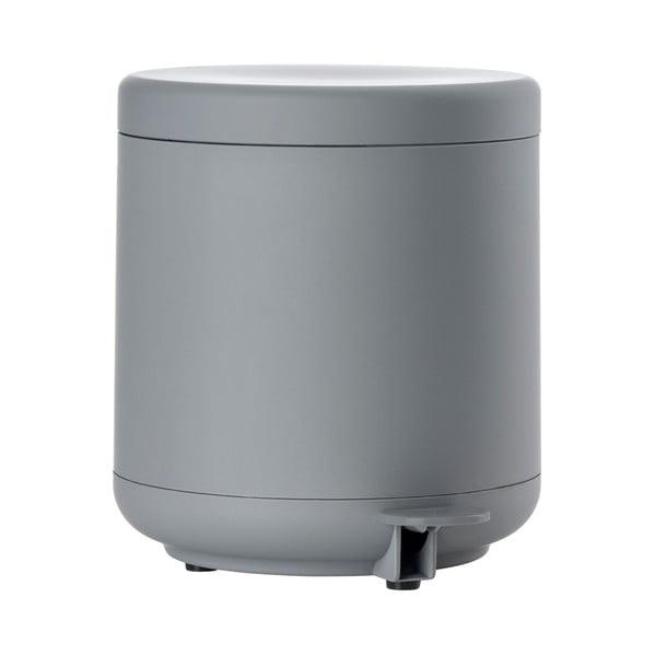 Coș de gunoi cu pedală pentru baie Zone UME, 4 l, gri