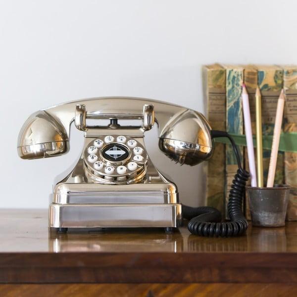 Retro funkční telefon Chrome Lobby