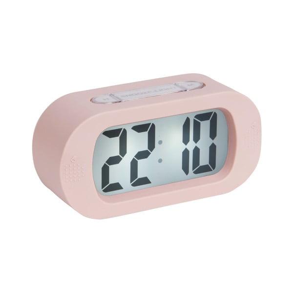 Ceas cu alarmă Karlsson Gummy, roz deschis