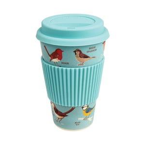 Cestovní bambusový hrnek Rex London Garden Birds, 400 ml