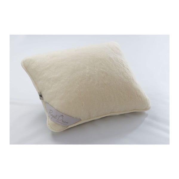 Vlněný polštář v krémové barvě Royal Dream Cream, 50x60 cm