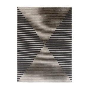 Béžovomodrý ručně tkaný vlněný koberec Linie Design Cono, 170x240cm
