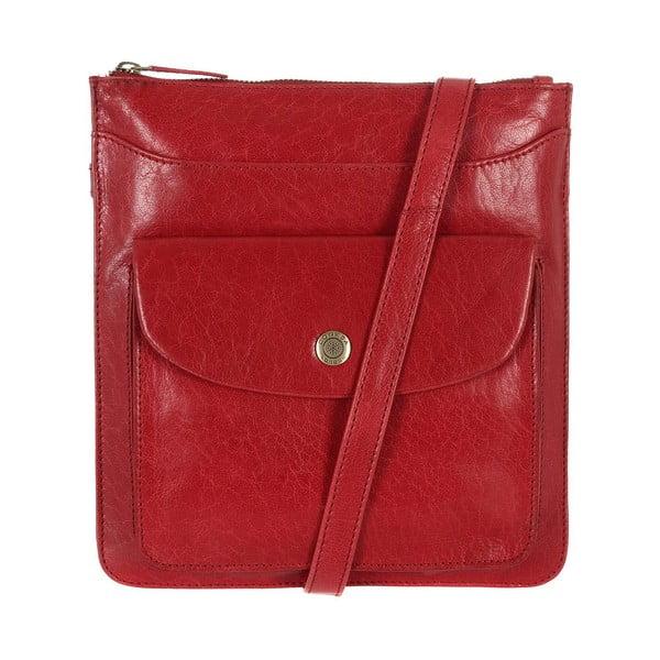 Dámská kožená taška Lilia Cranberry