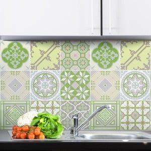 Sada 9 samolepek Ambiance Azulejos Tiles Verde