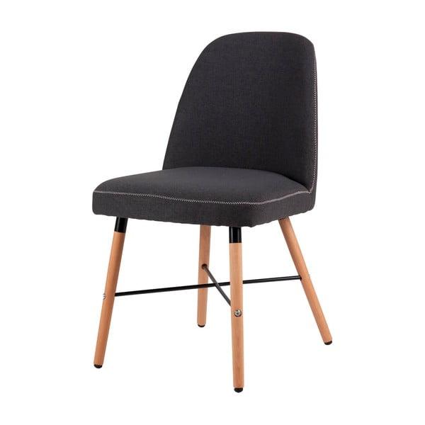 Tmavosivá jedálenská stolička s podnožím z bukového dreva sømcasa Kalia