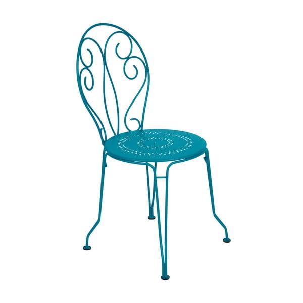 Tyrkysová kovová židle Fermob Montmartre