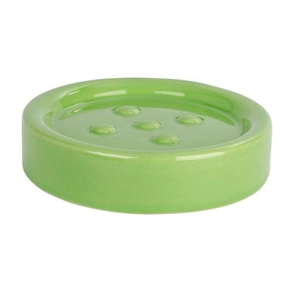 Zelená podložka pod mýdlo Wenko Polaris Green