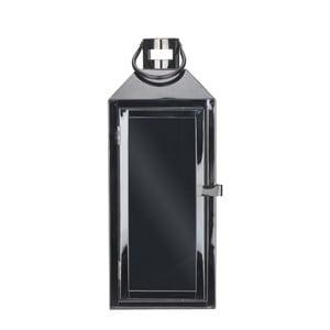Černá kovová lucerna s poutkem Villa Collection, výška 35 cm