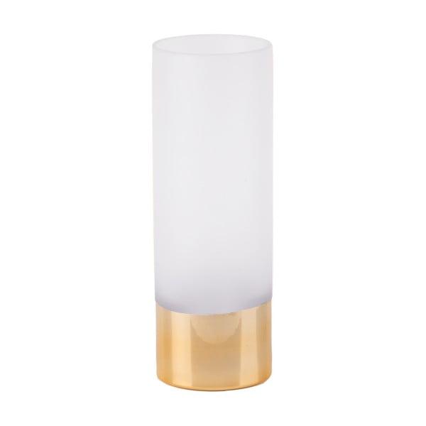 Bílo-zlatá skleněná váza PT LIVING Glamour, výška 25 cm