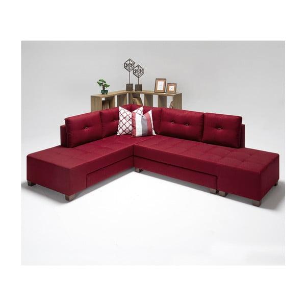 Home Bailey borvörös kinyitható kanapé, bal sarok - Balcab