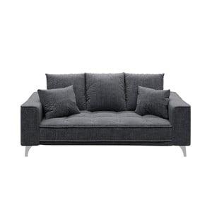 Canapea cu 2 locuri devichy Chloe Glam, gri închis