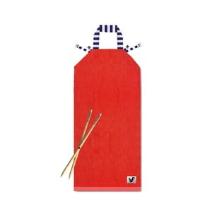 Červené plážové lehátko Origama Blue Stripes