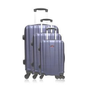 Sada 3 modrých cestovních kufrů na kolečkách Hero Poppy