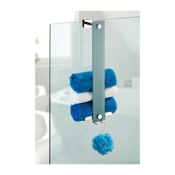 Skleněný samodržící držák na ručníky Wenko Power-Loc Era