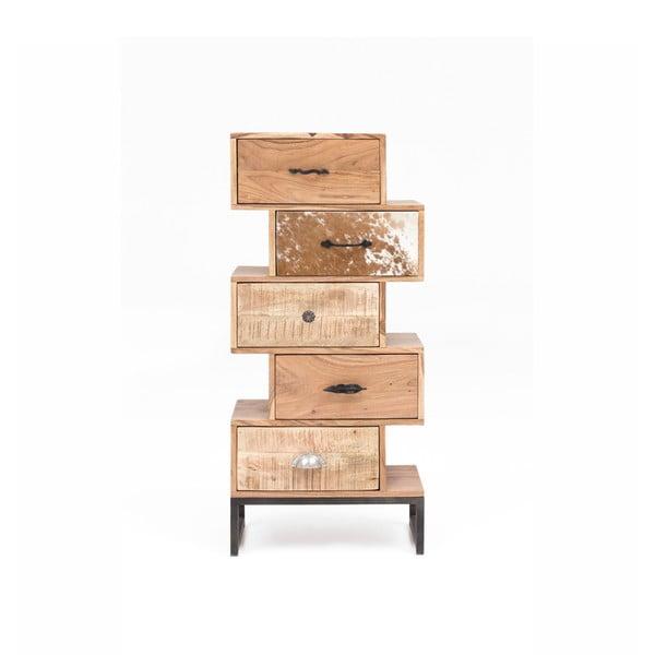 Komoda s 5 szufladami z drewna akacjowego WOOX LIVING