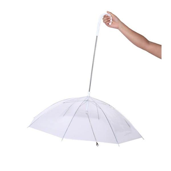 Transparentní holový deštník pro psy Moon Dog, ⌀66cm