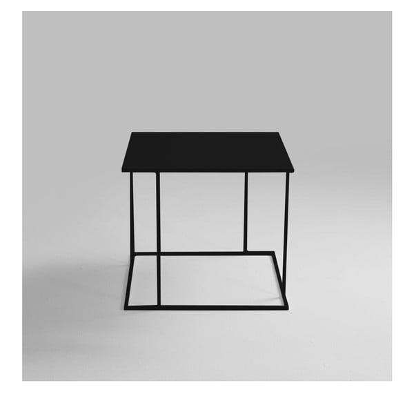 Walt fekete tárolóasztal, 50 x 50 cm - Custom Form