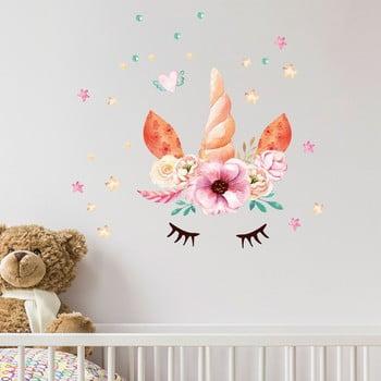 Autocolant de perete Ambiance Watercolor Unicorn imagine