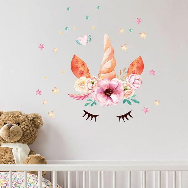 Autocolant de perete Ambiance Watercolor Unicorn