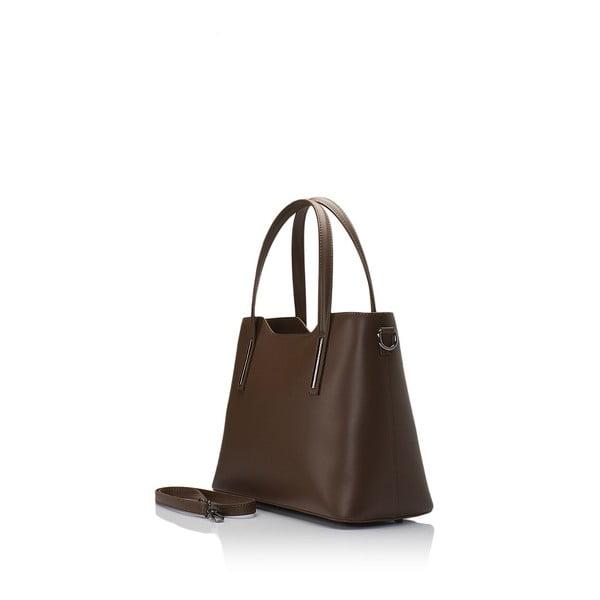 Hnědá kožená kabelka Markese Terra