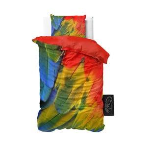 Povlečení z mikroperkálu Sleeptime Parrot, 140x220cm