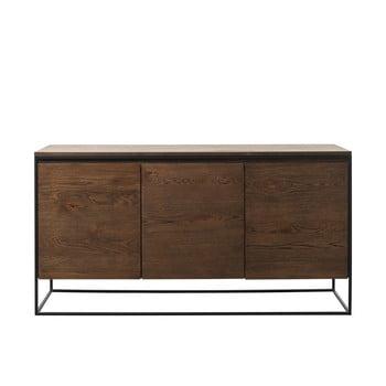 Comodă cu detalii cu aspect de lemn de stejar Unique Furniture Rivoli