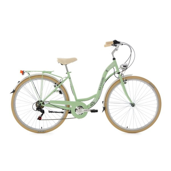 """Kolo City Bike Casino Green 28"""", výška rámu 48 cm, 6 převodů"""
