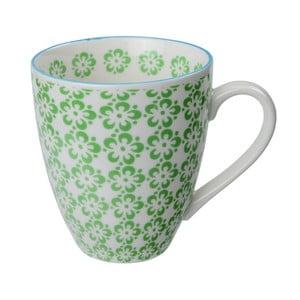 Porcelánový hrnek Flowers Green, 8,7x9,8 cm