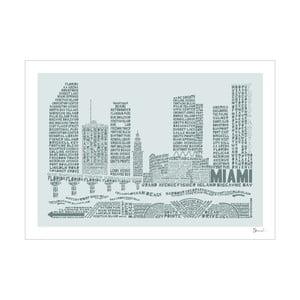 Plakát Miami Grey&Grey, 50x70 cm