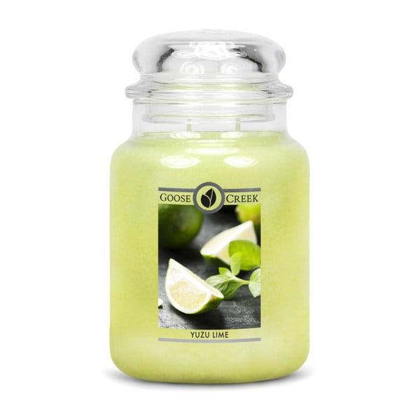Lumânare parfumată Goose Creek, aromă de Yuzu Lime, 150 ore
