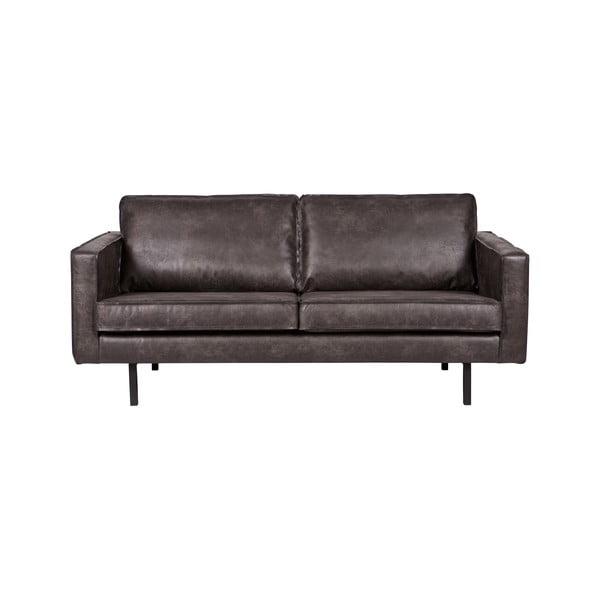 Rodeo fekete kétszemélyes kanapé, újrahasznosított bőrhuzattal - BePureHome