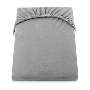 Cearșaf de pat cu elastic DecoKing Nephrite, 220–220 cm, gri