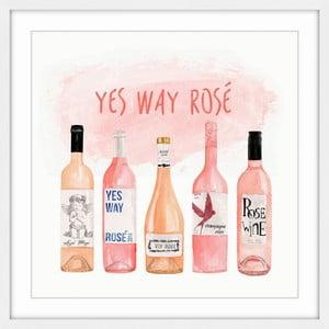 Obraz na plátně Marmont Hill Yes Way Rosé, 41 x 41 cm