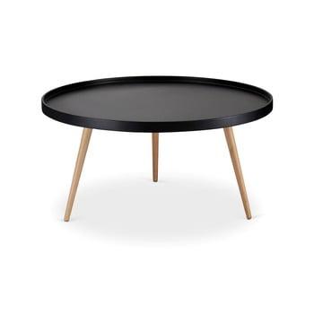 Măsuță de cafea cu picioare din lemn de fag Furnhouse Opus, Ø 90 cm, negru de la Furnhouse