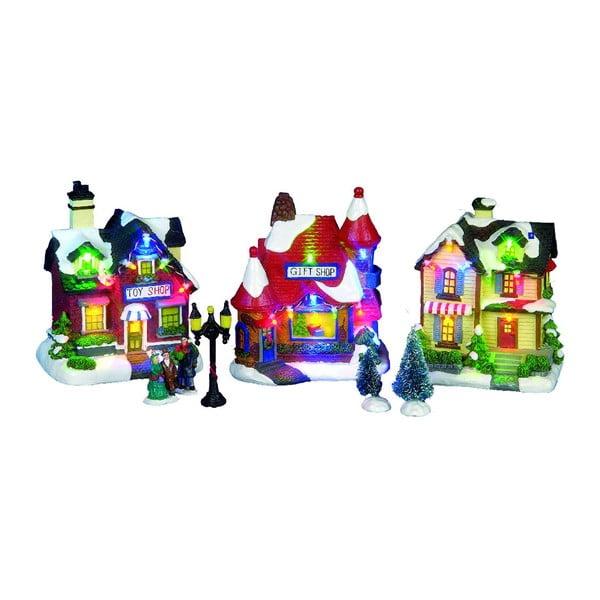 Set 3 svítících dekorací Christmas Houses