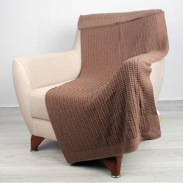 Hnědá bavlněná deka Carla