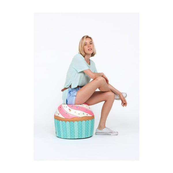 Puf ve tvaru dortíku Cupcake Blue