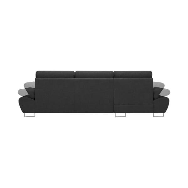 Tmavě šedá rozkládací rohová pohovka Windsor & Co Sofas Pi, levý roh