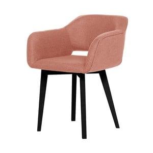 Broskvově oranžová jídelní židle s černými nohami My Pop Design Oldenburg