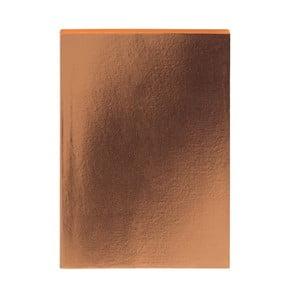 Zápisník v bronzové barvě A5 GO Stationery Glam