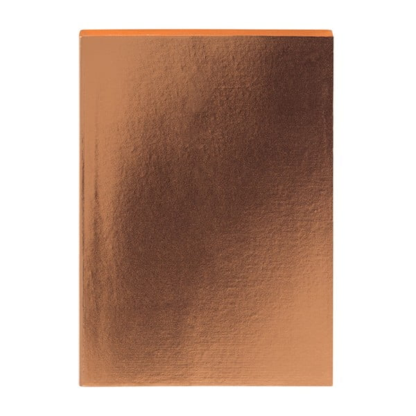 Zápisník v bronzovej farbe A5 GO Stationery Glam