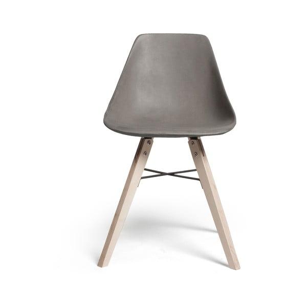 Jedálenská stolička s betónovým sedákom Lyon Béton Hauteville