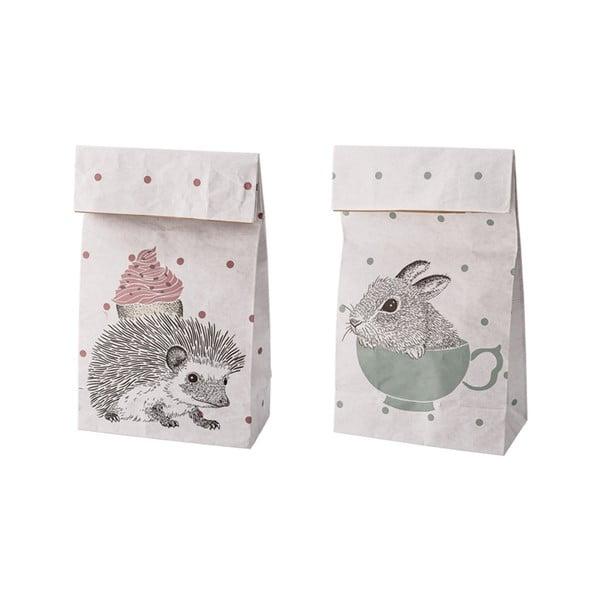 Komplet 2 papierowych toreb Bloomingville Animals