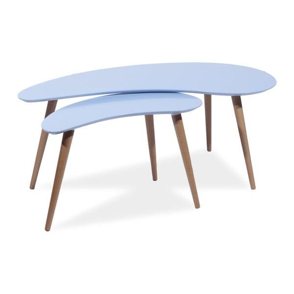 Sada 2 konferenčních stolků Sven, modré