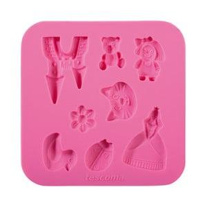 Růžová silikonová formička Tescoma Delícia Deco Pro holky
