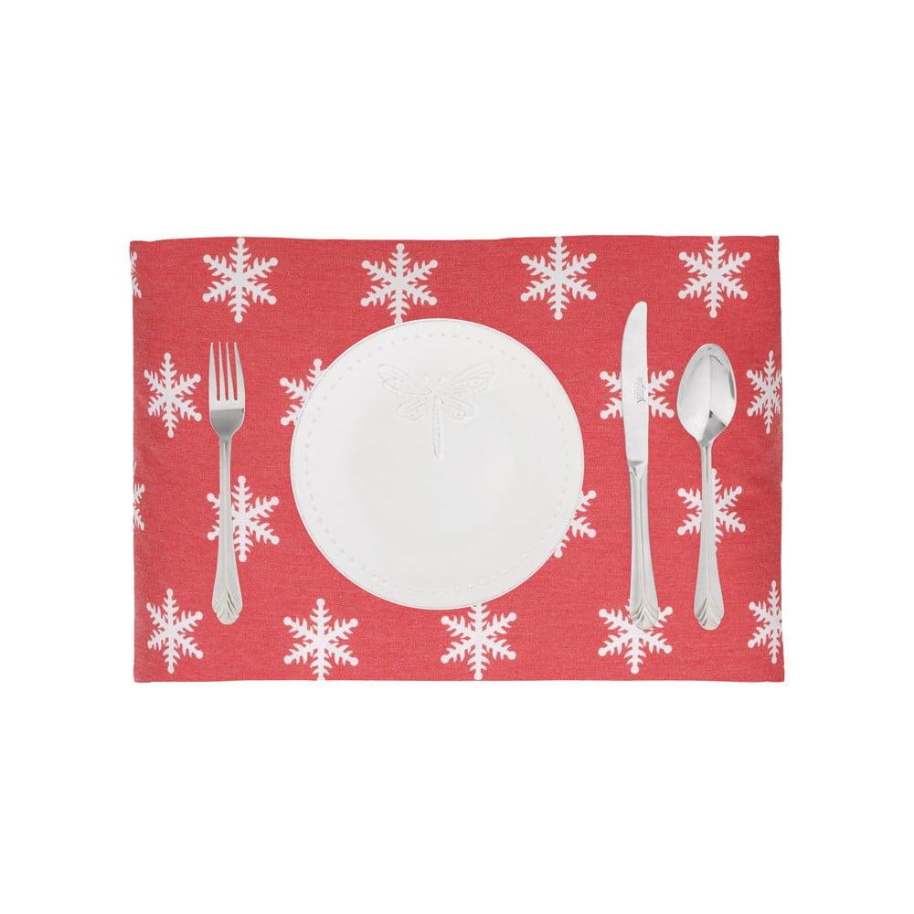 Sada 2 vánočních prostírání Apolena Shine Snow, 33 x 45 cm