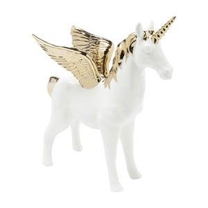 Decorațiune cu detalii aurii Kare Design Figurine Unicorn, alb