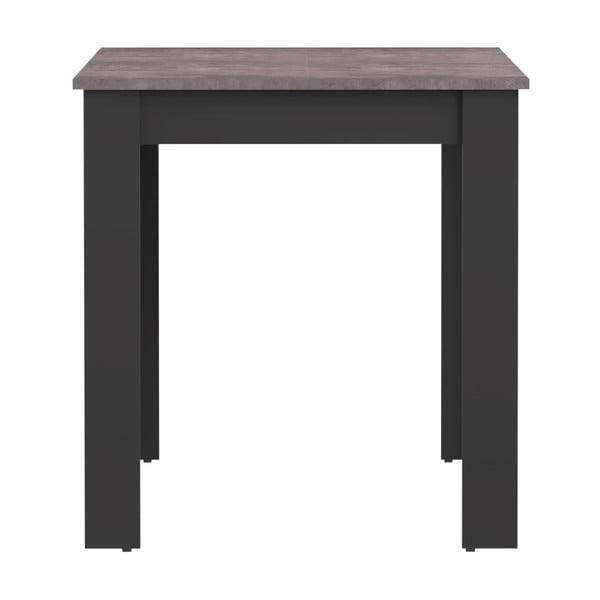 Černý jídelní stůl s deskou v dekoru betonu Symbiosis Nice, 110x70cm