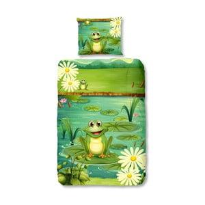 Dětské bavlněné povlečení na jednolůžko Good Morning Frogs,140x200cm